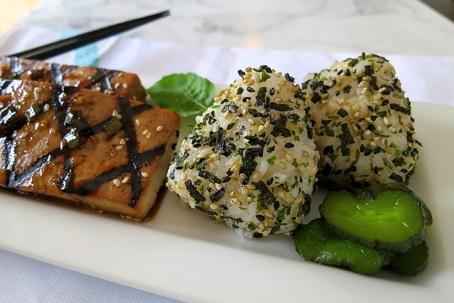 Teriyaki Tofu with Onigiri