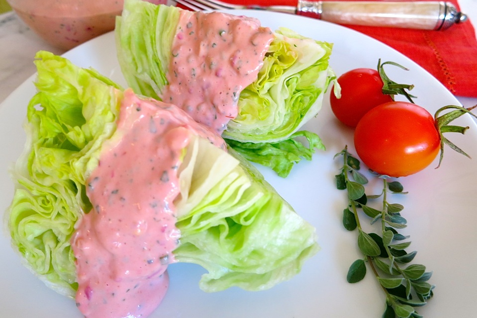 Iceberg Lettuce Wedges With Thousand Island Dressing My Lilikoi