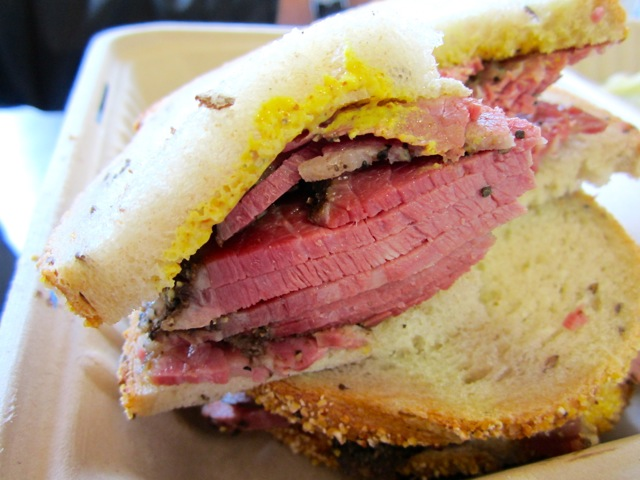 Wise Sons Pastrami Sandwich