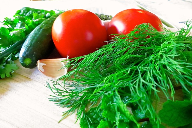 Herb salad ingredients