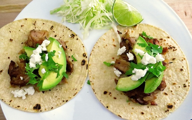 Carnitas with Avocado & Cheese