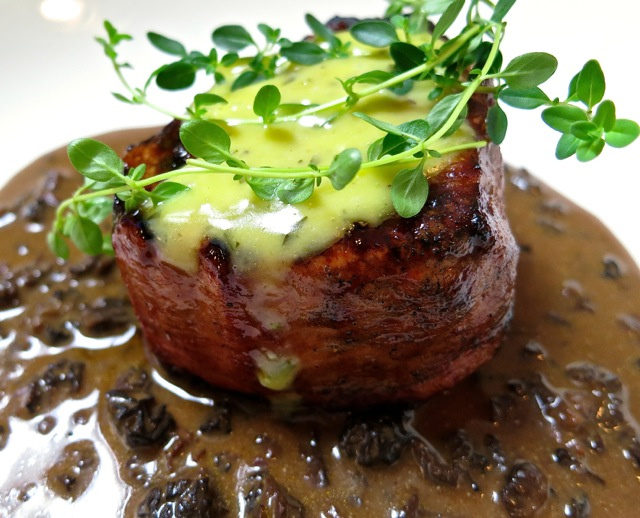 Beef Filet with Morel Bordelaise & Béarnaise Sauce