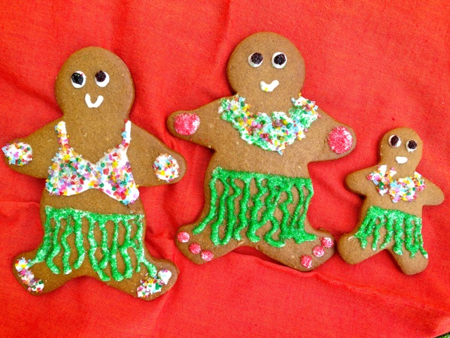 Hula Gingerbread Cookies