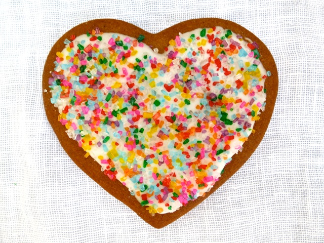 Gingerbread Cookie Heart