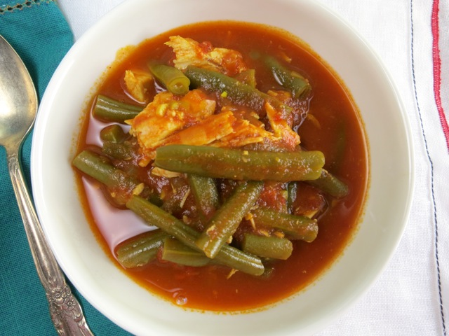 Green Bean Stew with Chicken