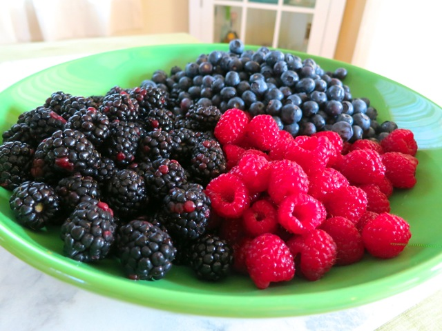 Blackberries, Blueberries, Raspberries