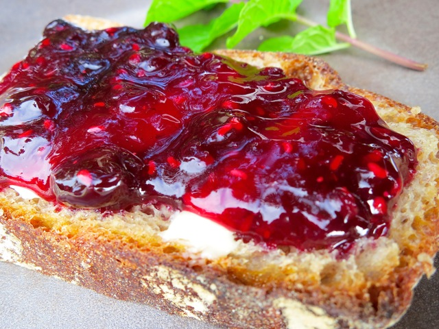 Mixed Berry Jam on Toast