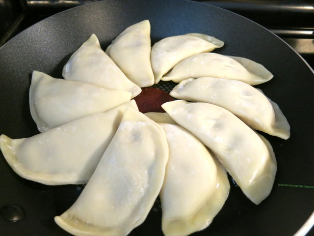 Dumpling Pancake Ready to Fry