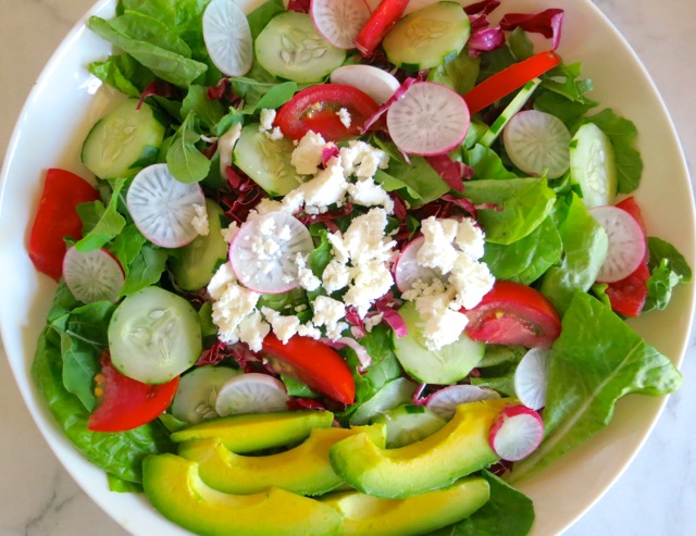Garden Salad with Feta