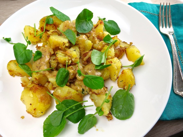 Potato Salad with Whole Grain Mustard and Upland Cress