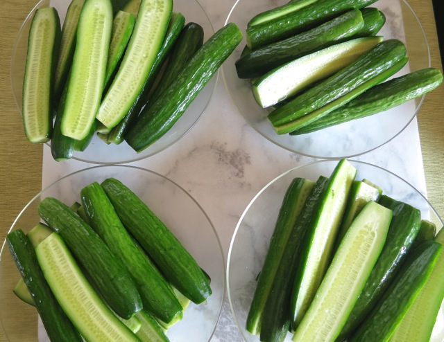 Divide Up Cucumbers for Each Jar