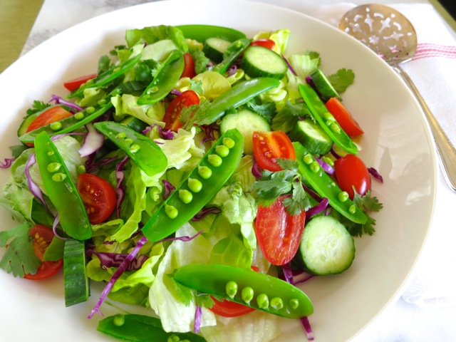 Butter Lettuce, Cucumbers, Tomatoes & Sugar Snap Peas