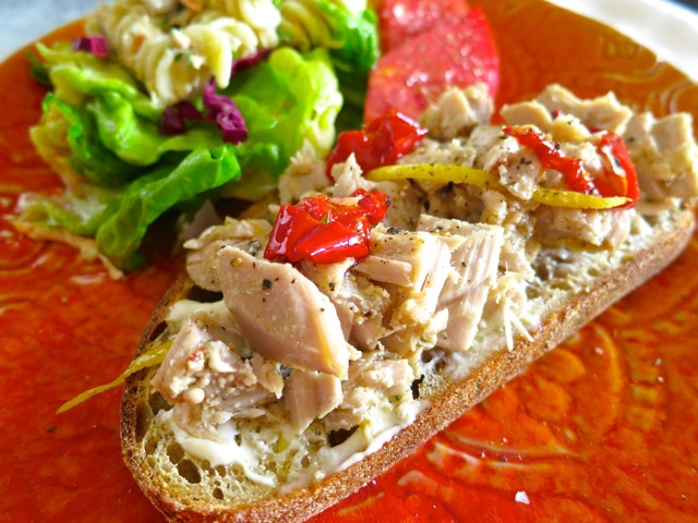 Tuna Conserva on Whole Grain Toasted Bread