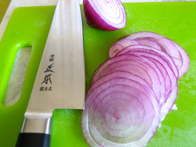 Finely Sliced Red Onion