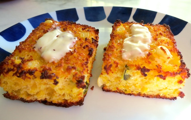 Toasted Cheddar Jalapeno Cornbread