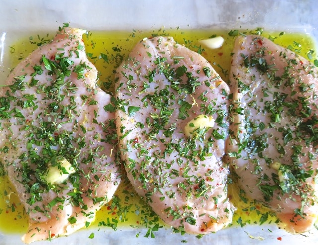 Herb Chicken Marinating