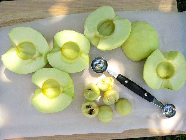 Peeled & Cored Granny Smith Apples