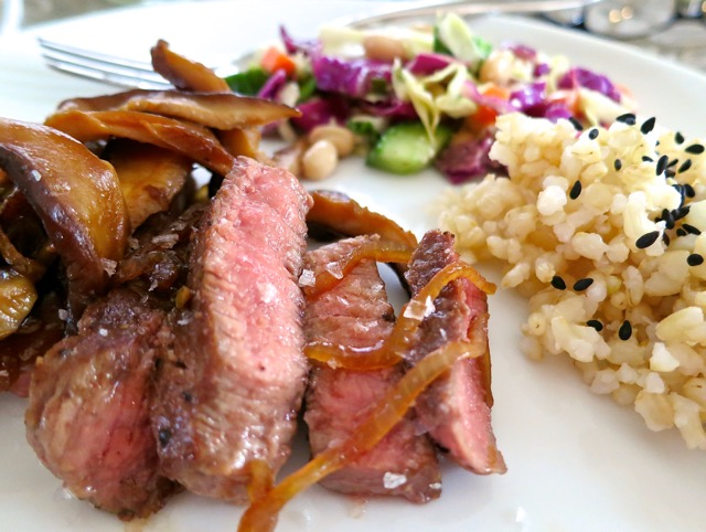 Filet Mignon with Shallots & Shiitake Mushrooms