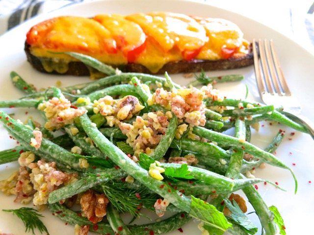 Haricots Verts & Freekeh with Minty Tahini Dressing
