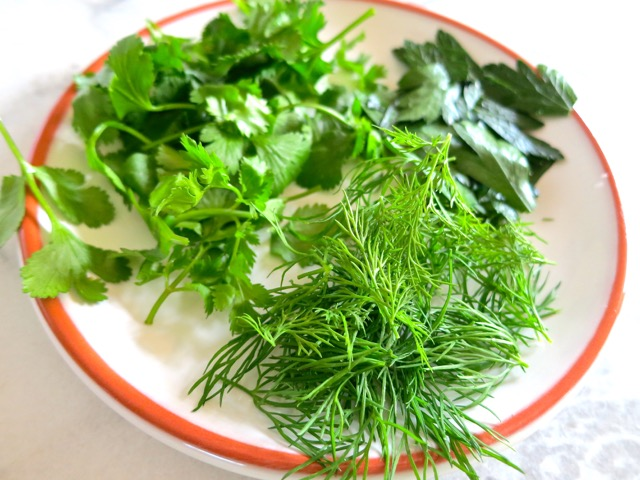 Dill, Cilantro, Parsley