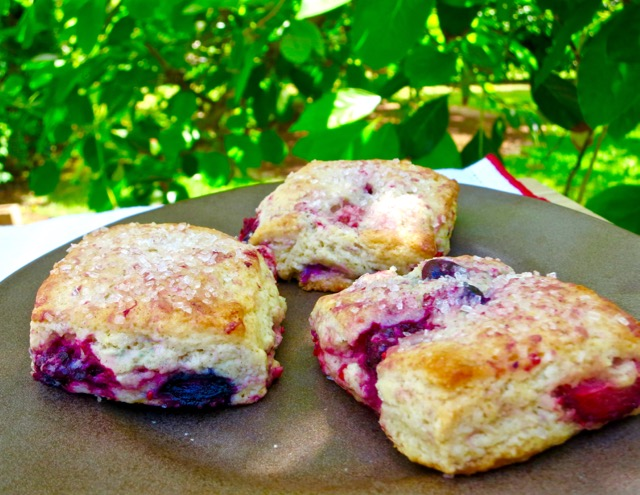 Mixed Berry Scones with Sparkling Sugar