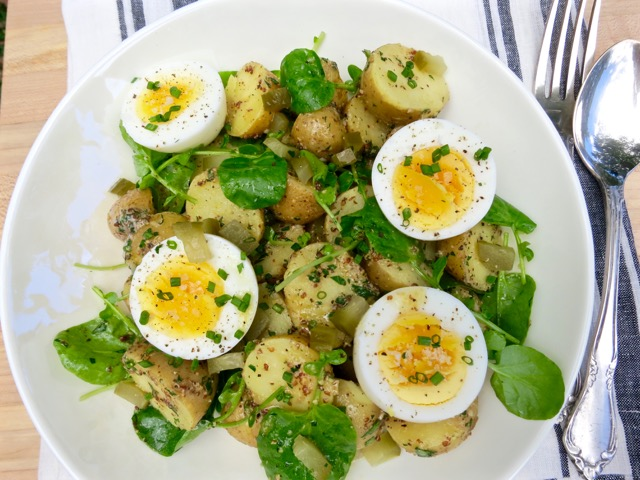 Potato Salad with 7-Minute Eggs & Mustard Vinaigrette