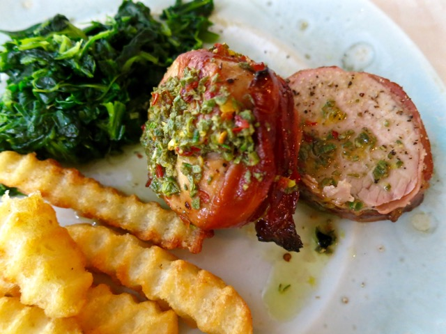 Prosciutto Wrapped Pork Tenderloin Dinner