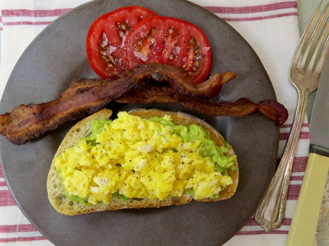 Scrambled Eggs with Avocado & Feta