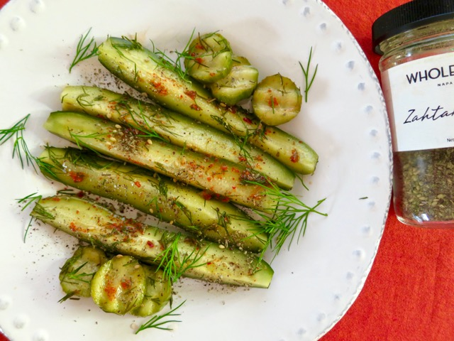 Quick Aleppo Dill Pickles