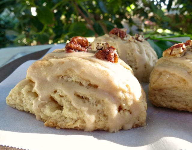 Maple Tea Scones with Candied Pecans