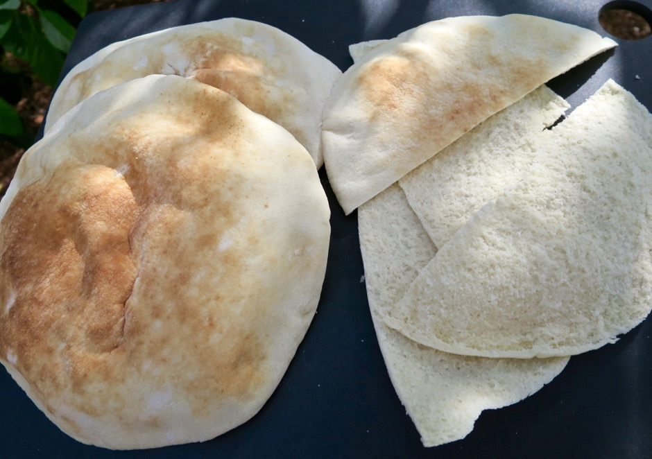Pita Bread Halved and Split