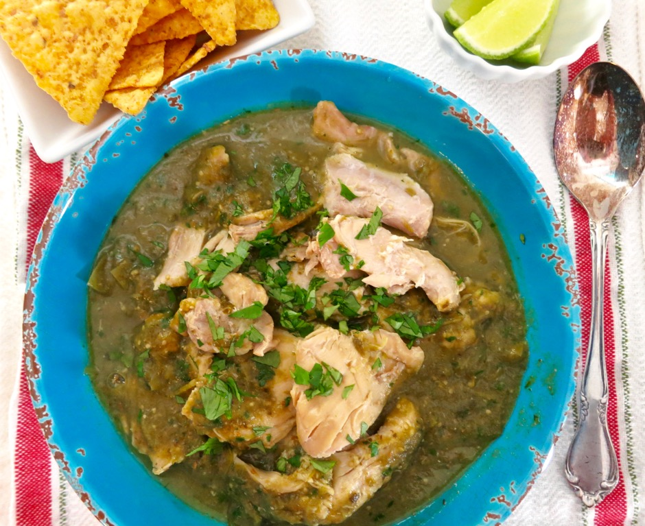 Pressure Cooker Chicken Chile Verde