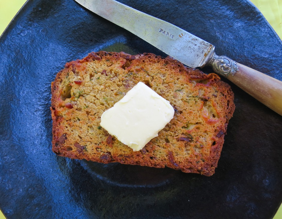 Toasted Zucchini Bread with Butter
