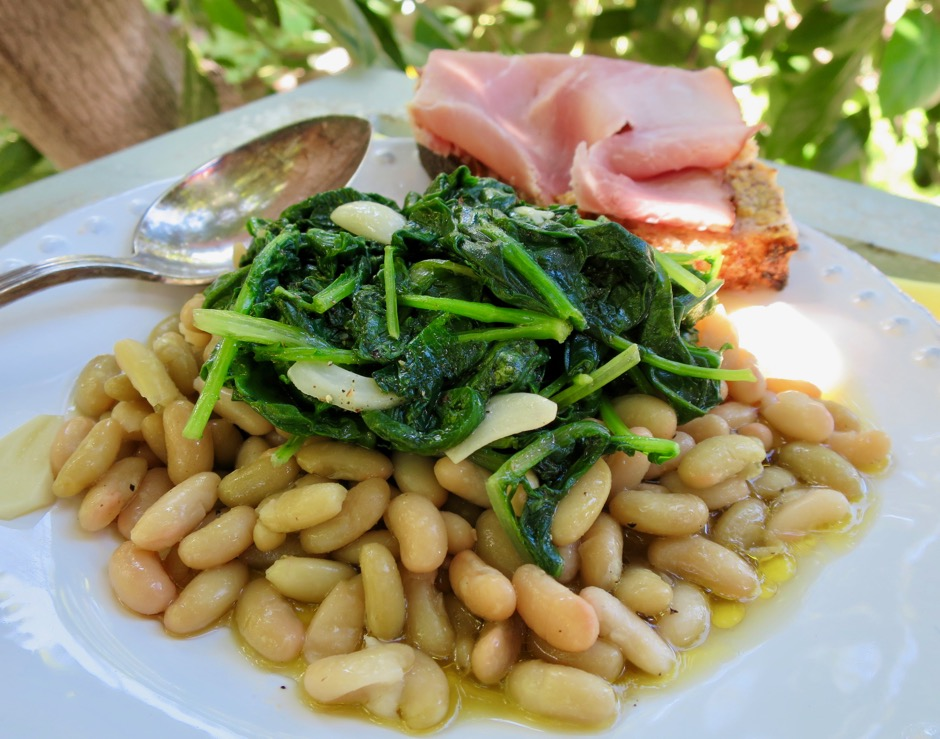 Flageolet Beans & Wilted Greens