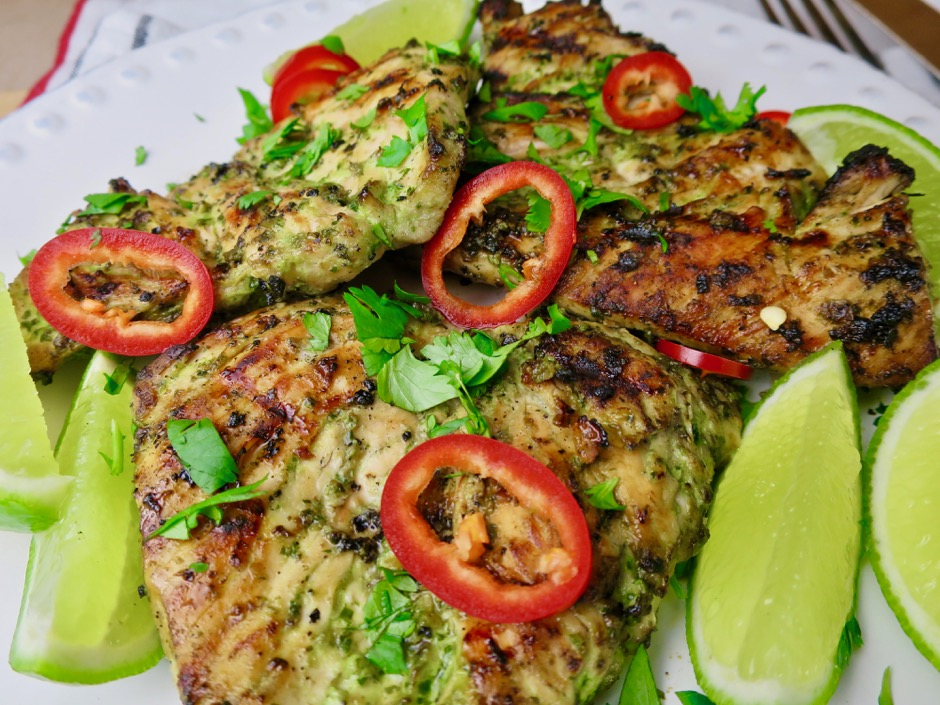 Grilled Thai Chicken with Basil & Lemongrass