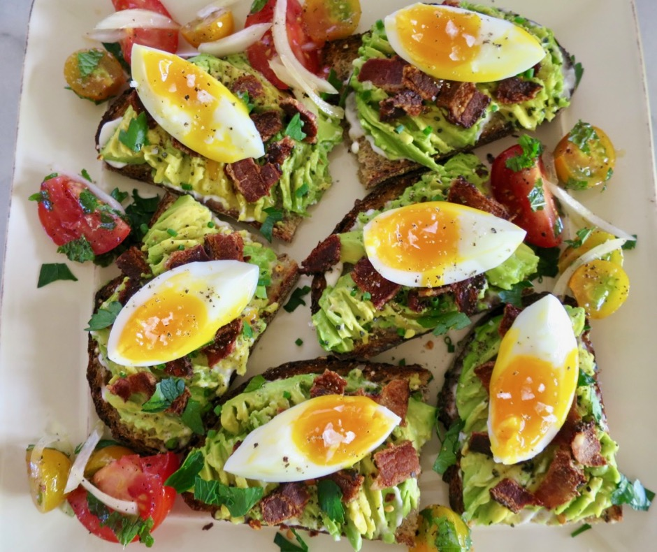 Avocado Toast with Bacon & Egg