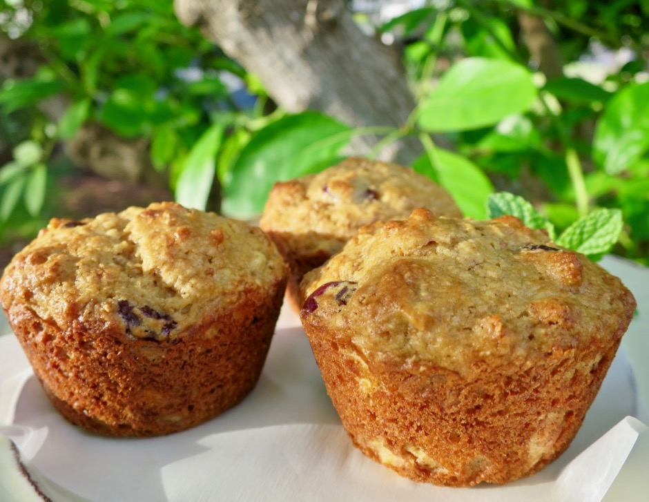 Whole Grain Muffins with Tart Cherries