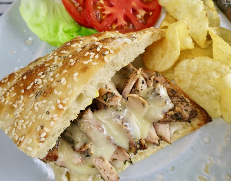 Middle Eastern Herb & Garlic Chicken Sandwich
