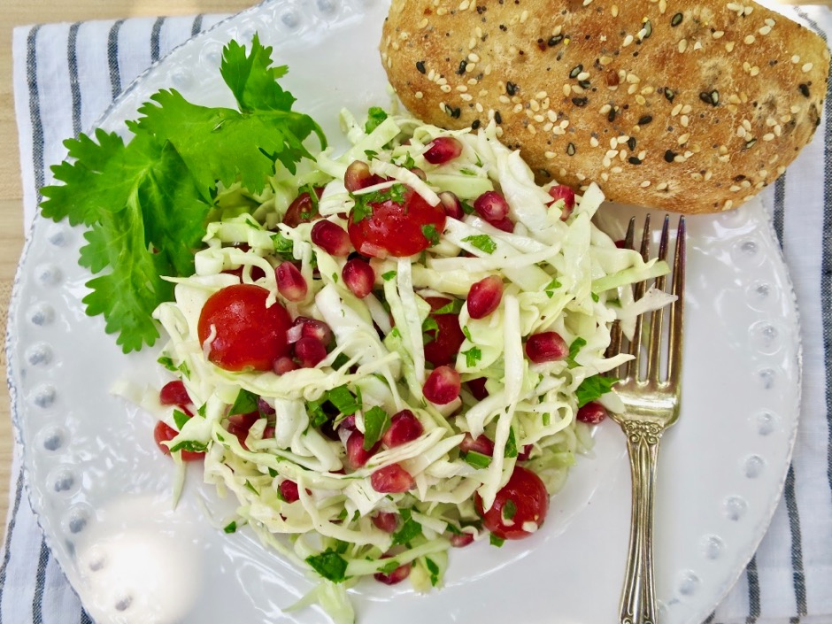 Crunchy Cabbage & Pomegranate Salad