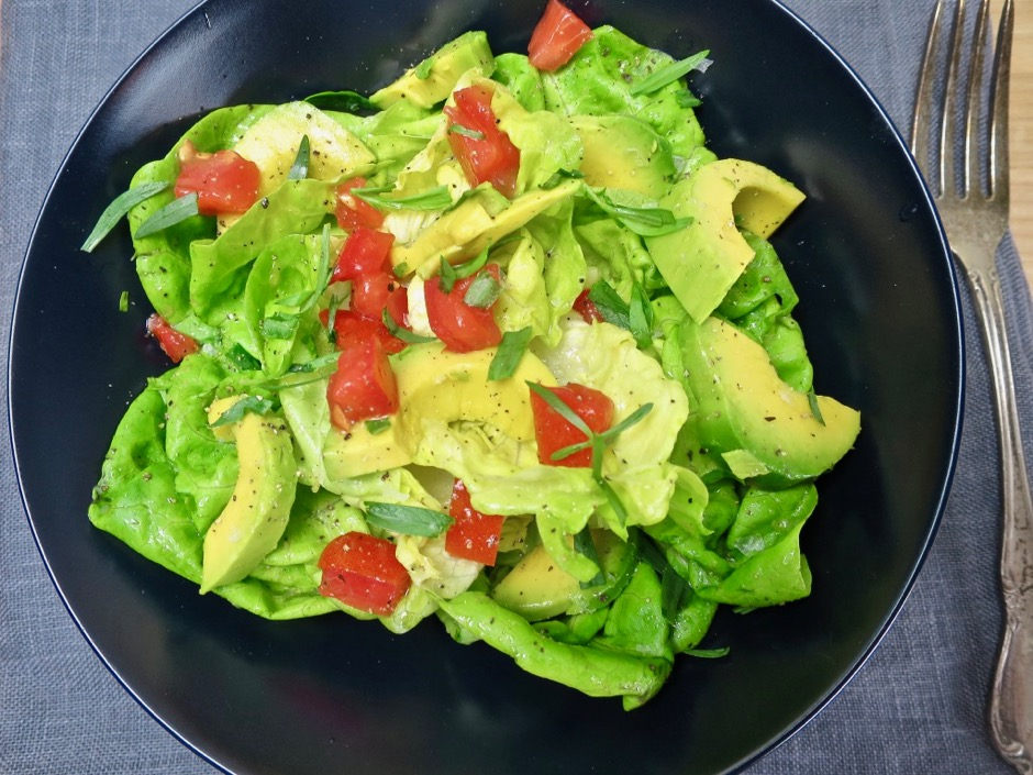 Butter Lettuce Salad with Tomato & Avocado